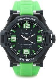 buy sonata superfibre ocean iii analog watch for men women buy sonata superfibre ocean iii analog watch for men women green online