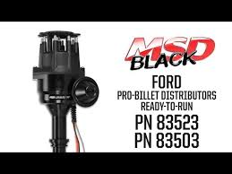 msd 8350 ford 351c 460 ready to run pro billet distributor msd black ford ready to run distributors button