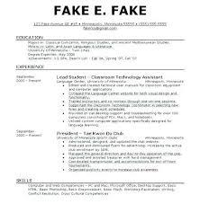 Read Write Think Resume Generator Resume Generator For Students Fake
