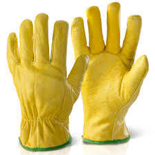 leather truck lorry drivers lined work gloves