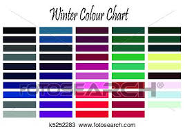 Color Chart For Clothes Winter Color Chart Drawing K5252283 Fotosearch