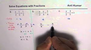 least common denominator to solve equation in fractions