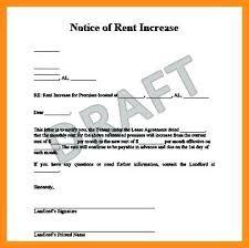 Sample Of Rent Increase Letter Rent Increase Letter Template Rental Landlord Uk