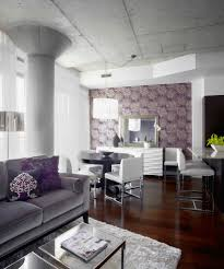 Purple And Grey Living Room Decorating Chic Gray Sofa Vogue Other Metro Contemporary Living Room