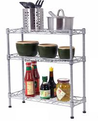 china adjule diy 3 tiers chrome steel mini kitchen rack china kitchen rack mini kitchen rack