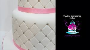 Quilted Effect Wedding Cake - How To - YouTube & Quilted Effect Wedding Cake - How To Adamdwight.com