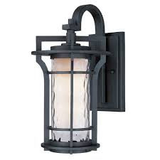 asian lighting. oakville black oxide 10inch wide onelight outdoor wall mount with water glass asian lighting