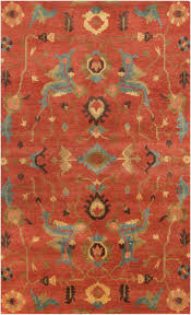 impressive design burnt orange area rugs 24