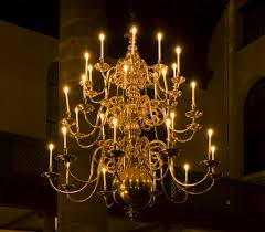 candle chandeliers an antique chandelier with candles in