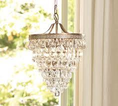 pottery barn clarissa glass drop chandelier