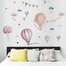 1xcartoon hot air balloon wall decals