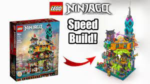 Ninjago City Gardens Speedbuild! - LEGO Ninjago Legacy 10th Anniversary Set  71741 - YouTube