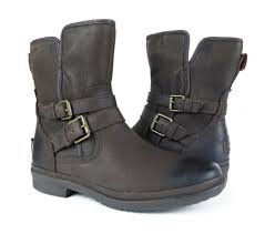 ugg australia simmens leather stout brown boots womens size 8 5 new