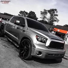 2007 Toyota Tundra KMC KM651 Slide Wheels Gloss Black