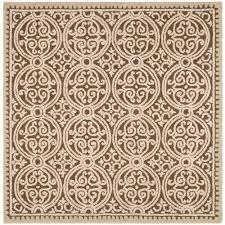 safavieh cambridge tan multi 10 ft x 10 ft square area rug