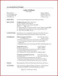 Cosy Sample Accounting Internship Resume Objective In Example Of Examples  Of Accounting Resumes