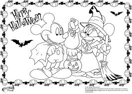 Small Picture Mickey Mouse Halloween Coloring Pages GetColoringPagescom