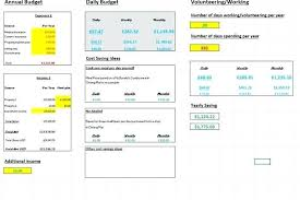 Gallery Of Vacation Budget Template Expense Spreadsheet Letter ...