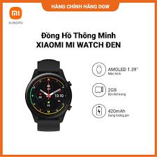 Đồng Hồ Thông Minh Xiaomi Mi Watch Đen - Hàng Chính Hãng Phân Phối Bởi  Digiworld - Đồng Hồ Thông Minh