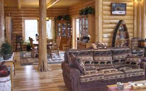 Caribou  Log Homes Cabins And Log Home Floor Plans  Wisconsin Open Log Home Floor Plans
