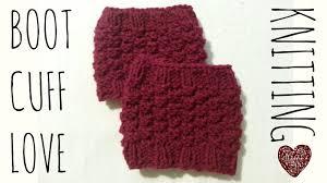 Boot Cuff Pattern New Boot Cuff 'Love' Easy Knit Pattern Knitting Accessories Tutorial