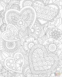 the hearts zentangle coloring pages to view printable version or color it patible with ipad and android tablets