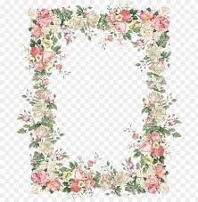 15 Vintage Floral Border Png For Free Download On