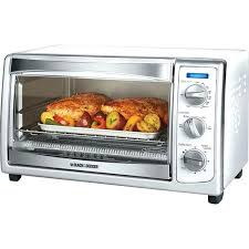black convection toaster oven white and decker countertop blackdecker 6 slice digital
