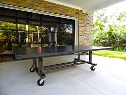concrete outdoor ping pong table