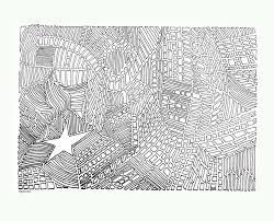 Volwassene Kleurplaat Star 4 Abstract Abstracte Buurt Etsy