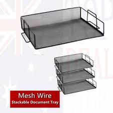 desk office file document paper. Image Is Loading 3-Tier-B-Stackable-Letter-Tray-Desk-Office- Desk Office File Document Paper O