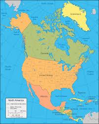 continent of america map. Brilliant Continent North America Political Map Intended Continent Of Map