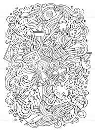 かわいい落書きデザイン イラストを漫画します いたずら書きのベクター