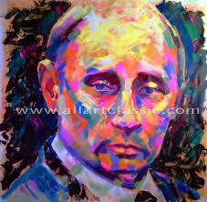 original oil painting portrait of vladimir putin