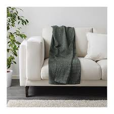 ikea gurli bed couch sofa lounge knee throw rug blanket 120x180cm in grey green