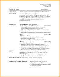 Objective For Banking Resume Easy Resume Objectives For Banking In Bank Teller Resume Krida 24