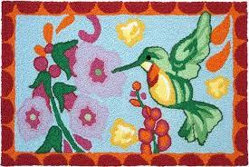 hummingbird jelly bean rug