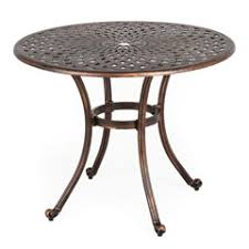 round outdoor metal table. Ellister Regency 90cm Dining Table - Bronze Round Outdoor Metal :