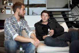 Victoria native Cory Monteith, left, and Dustin Milligan star in Sisters &  Brothers. Monteith, 31, died Saturday.