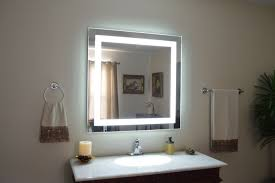 image of wide lighted makeup mirror