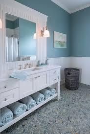 blue bathroom designs. Wall Color Is Benjamin Moore Sea Star. Davitt Design Build, Inc. Nat Rea · Beadboard In BathroomBlue Bathroom Blue Designs