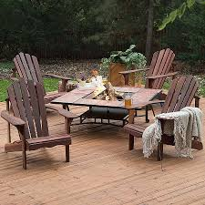 outdoor furniture fire pit elegant round wood fire pit table