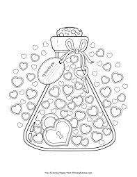 Valentines Day Coloring Pages Printable Coloring Ebook Primarygames