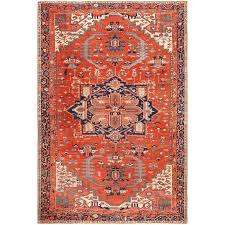 large antique serapi persian rug for