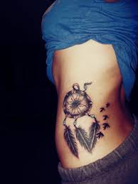 Dream Catcher Tattoo On Side 100 Dreamcatcher Tattoos With Birds 10