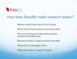 easybib school register for an easybib account register and create an account easybib slideplayer