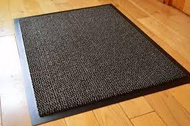 carpet runner hall non slip stopper rug runners door mat 60cm x 80cm black