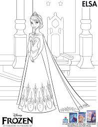 Elsa Coloring Pages Printable Frozen Coloring