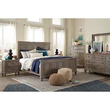 casual rustic gray 4 piece california king bedroom set dovetail
