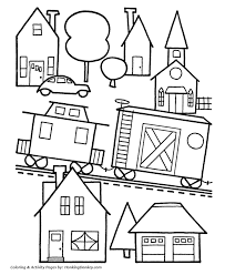 Christmas Toys Coloring Pages Toy Train Town Weareeachother Coloring